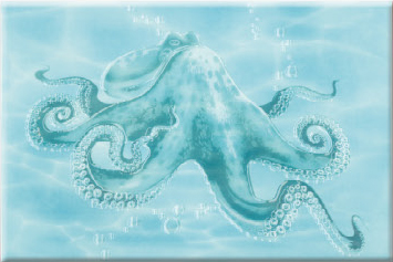 Декор Лазурь Осьминог / Decor Azure Octopus 25x35