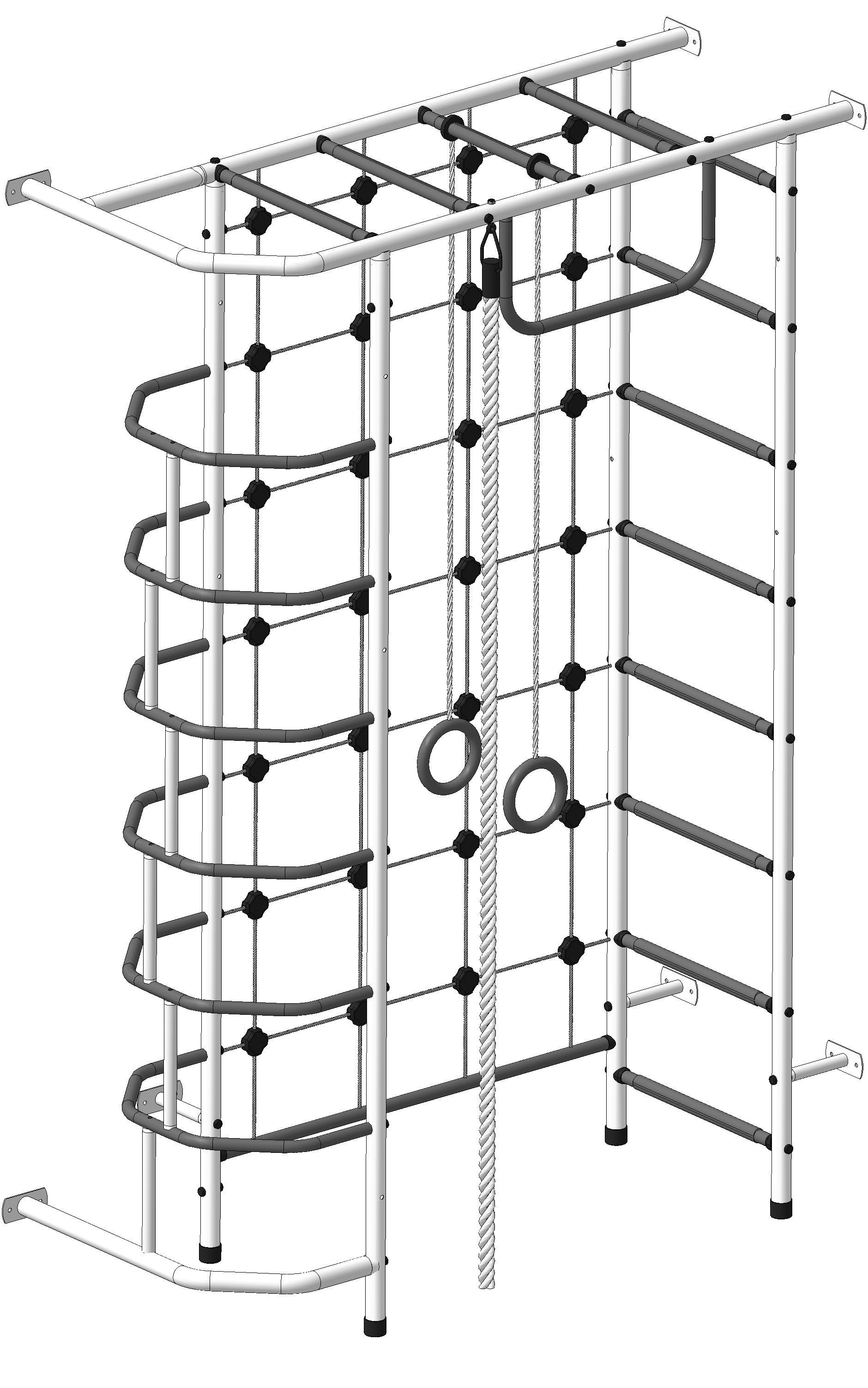 шведская стенка пионер 10 с сеткой цена